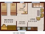 Picture 1 Bedroom Apartment / Flat for rent in...